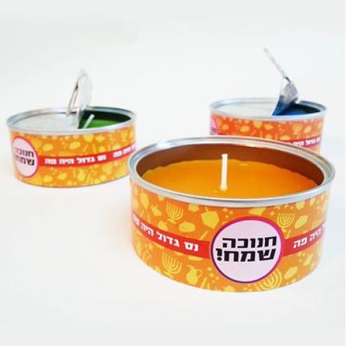 נרות ממותגים לחנוכה