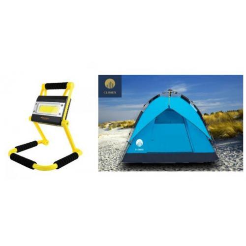 סט קמפינג מושלם - אוהל שטח ל  5 אנשים  וגם פנס תאורה עוצמתי DISCOVERY