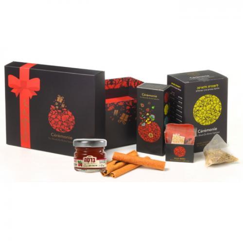 מארז תה המשלב 25 שקיקי תה, דבש וקינמון