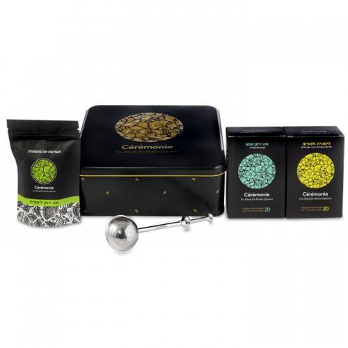 מארז חליטת תה בקופסת פח מרובעת