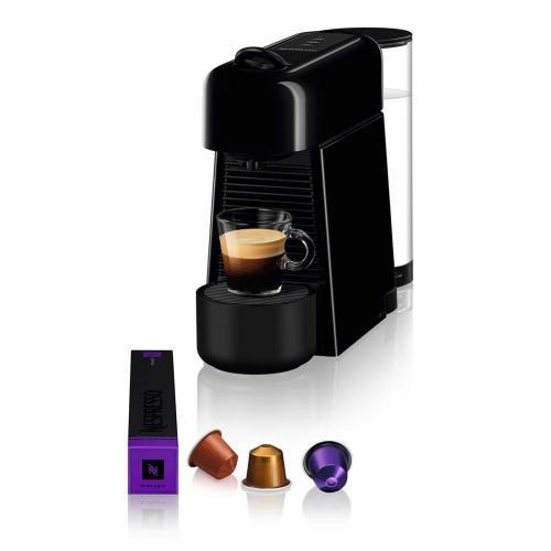 מכונת אספרסו Nespresso Essenza D45 Plus נספרסו כולל מקצף חלב - צבע שחור