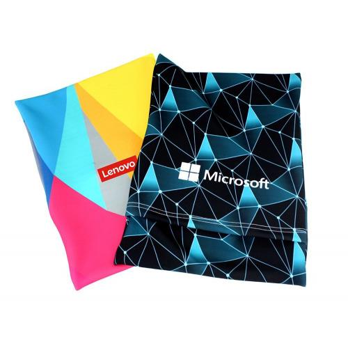 תיק שרוול לייקרה למחשב נייד או טאבלט עם סגירת בד כולל הדפסה צבעונית מלאה
