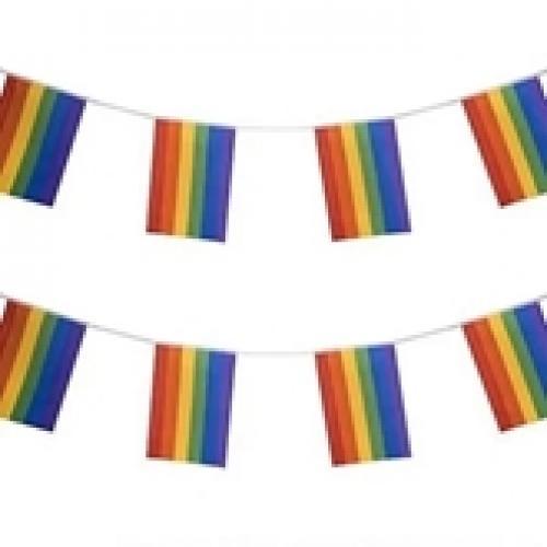 שרשרת דגלים 7 מטר עם 20 דגלונים קטנים