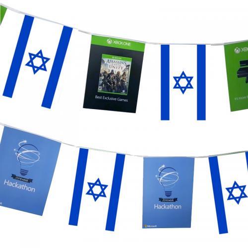 שרשרת דגלים ממותגת