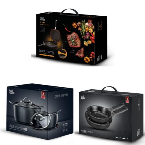 A set of pots and pans for healthy cooking from FOOD APPEAL
