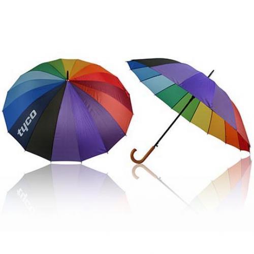 ריינבו - מטריה משפחתית איכותית עם פלחים בצבעים שונים