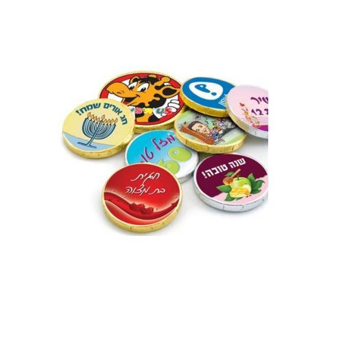 הדפסה צבעונית למטבעות שוקולד