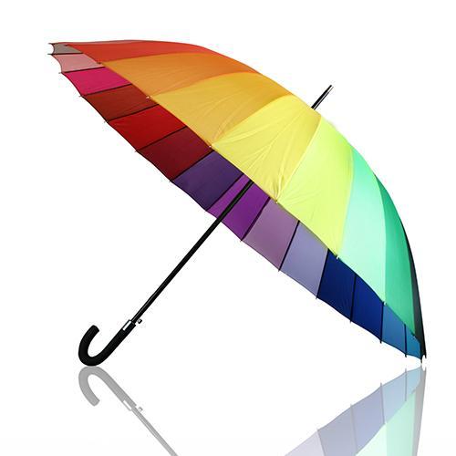 """ג'מבו ריינבו - מטריה משפחתית מרהיבה ואיכותית בקוטר 30"""""""