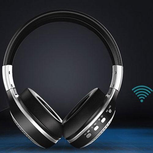 אוזניות קשת BLUETOOTH עם רדיו מובנה וצג דיגיטל