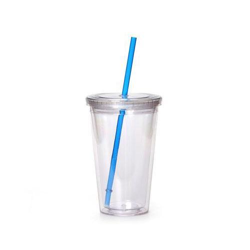 """כוס רב פעמית עם קש - קיבולת 800 מ""""ל"""
