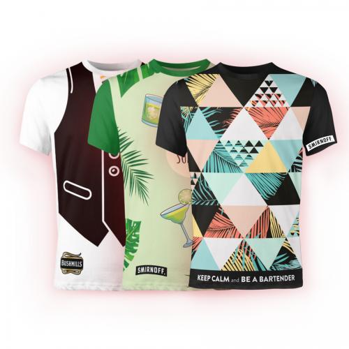 חולצות דריפיט עם הדפסה צבעונית היקפית ALLOVER