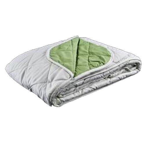 כיסוי מיטה משולב שמיכת מעבר לבן/ירוק