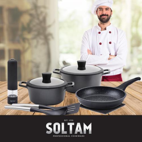 פנקו את עצמכם במארז RICHSTONE כלי בישול סולתם 9 חלקים!