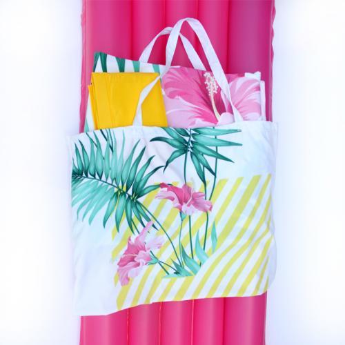SUMMER SET- תיק ומגבת יחיד בהדפסה לפי בחירתכם ומזרון ים