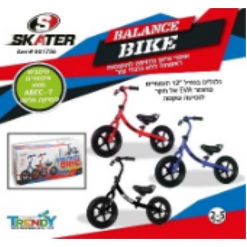 """אופני איזון ודחיפה גלגלים """"""""12 SKATER EVA"""