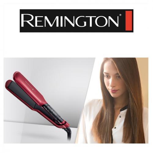 מחליק שיער משי קרמי רחב silk wide מבית Remington