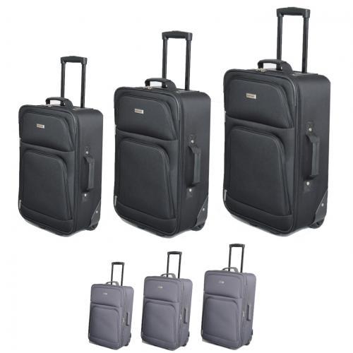 סט מזוודות בד איכותיות