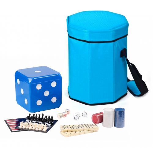 סט פיקניק עם משחקים בקובייה