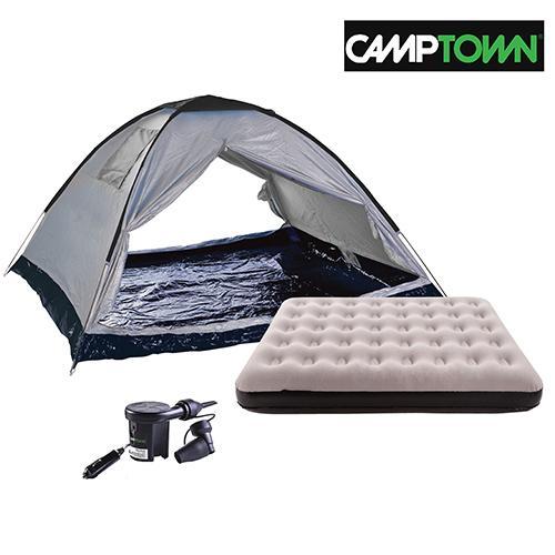 קמפינג בטבע עם אוהל ל4 אנשים Camptown