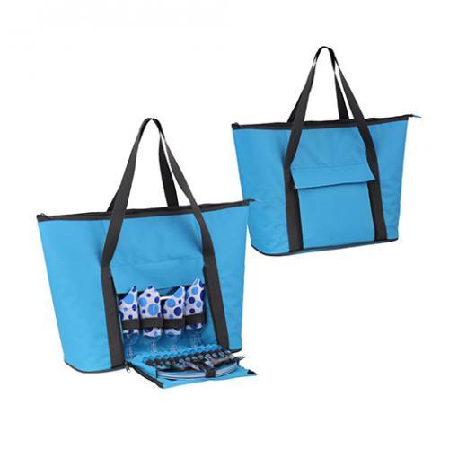 מג'יק- צידנית בצורת תיק חוף עם כלים ל4 סועדים