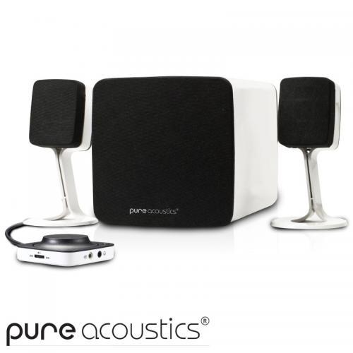 מערכת רמקולים Bluetooth אלחוטית עם סאבוופר אקטיבי Pure Acoustics