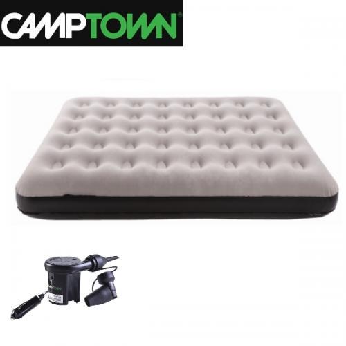 סט מיטה זוגית לשטח - מזרון מתנפח + משאבה חשמלית לרכב