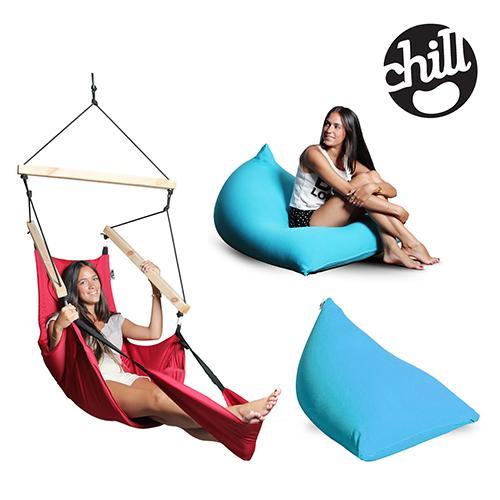 מערכת ישיבה כיפית הכוללת 2 פוף שפיץ וערסל מעוצב -Chill