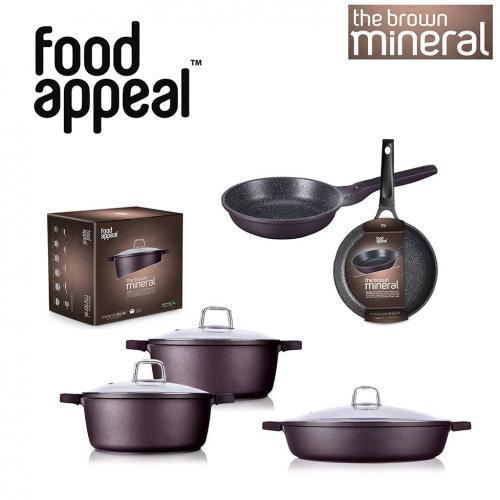 מגה מארז מחבתות וסירים סדרת מינרל Food Appeal