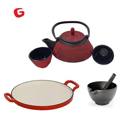 מארז כלי מטבח איכותיים מיציקת ברזל  GURO