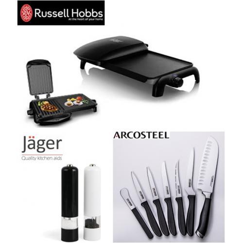 מארז בריאותי גריל , סכינים ומטחנות