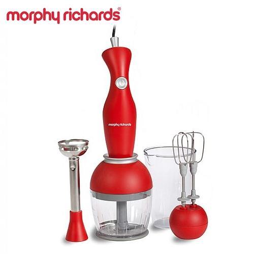 מוט בלנדר אדום עם אביזרים Morphy Richards