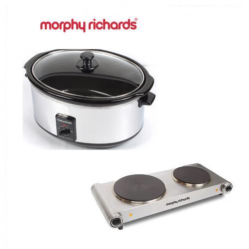 סיר בישול איטי 8 ליטר ופלטת בישול כפולה מבית Morphy Richards