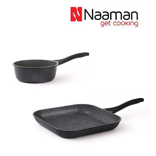 Naaman מחבת סטייק וקלחת גרניט