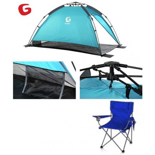 אוהל צל LAGUNA שנפתח תוך פחות מדקה + כסא במאי מתקפל