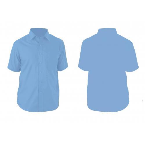 חולצת אוקספורד שרוול קצר