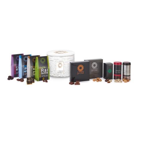 מארז אוריאן- קופסת פח XL , מגוון רחב של מתוקים איכותיים ומושלמים