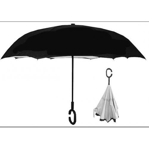 """מטריה """"23 פתיחה וסגירה הפוכה בד פוג'י"""