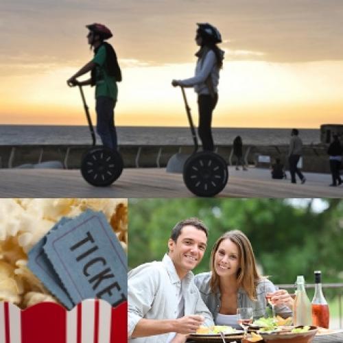יום כיף זוגי בשילוב סגוואי, ארוחה וסרט