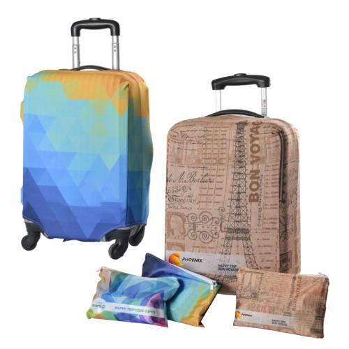 סט נסיעות מעוצב - כיסוי מזוודה בתוספת תיק רחצה/איפור