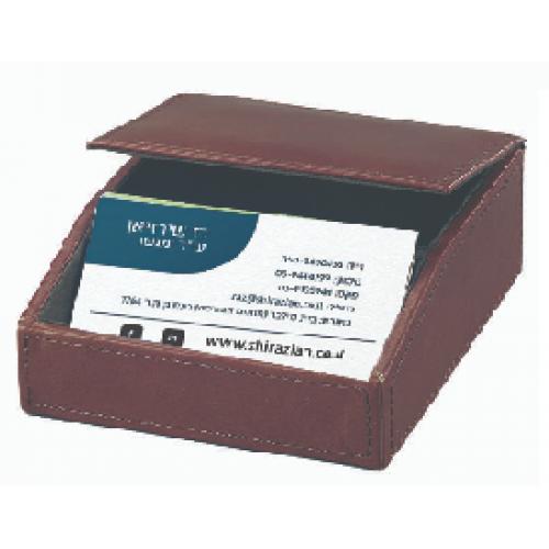 מעמד  שולחני לכרטיסי ביקור עם   תא כסף קטן או מפתחות מעור איטלקי