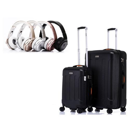 סט מזוודות קשיחות JEEP מסדרת מיאמי 28+24 אינץ' בשילוב אוזניות