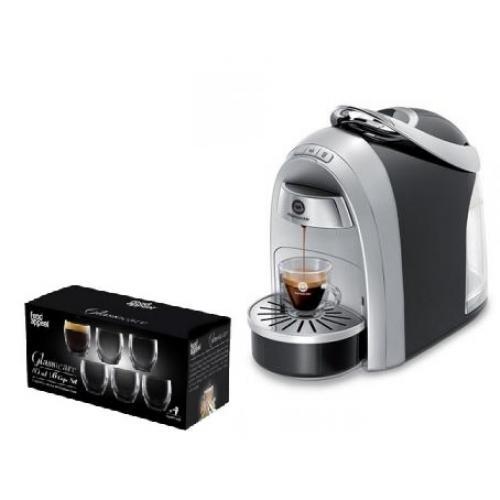 מכונת קפה Mushroom Pro מבית Club Espresso + ערכה עם 10 טעימות  + סט כוסות דאבל גלס food appeal