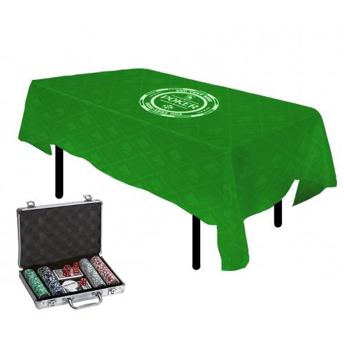 סט פוקר- מפת שולחן ומזוודה