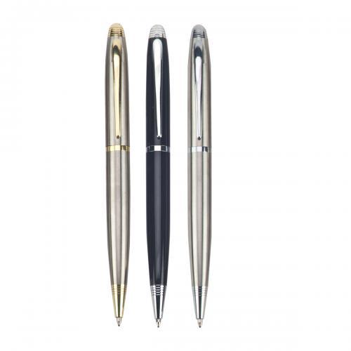 """עט כדורי WAVE. גוף מתכת, מנגנון סיבוב. מילוי דמוי פרקר. 1.0 מ""""מ."""