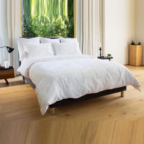 סט מצעים זוגיים כותנה ושתי כריות מיטה נוחות ורדינון