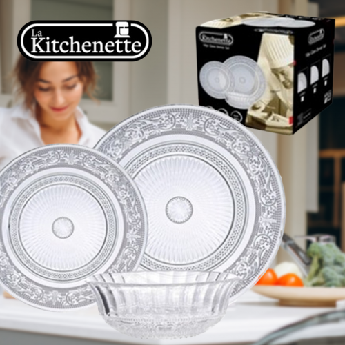 סט 18 צלחות אוריינטל זכוכית La Kitchenette