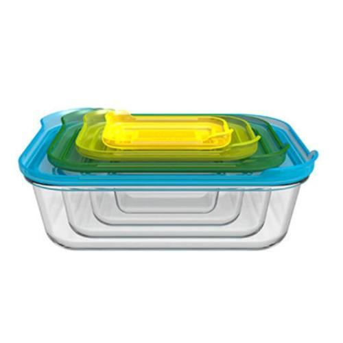 סט 4 קופסאות אחסון מזכוכית מבית SOHO