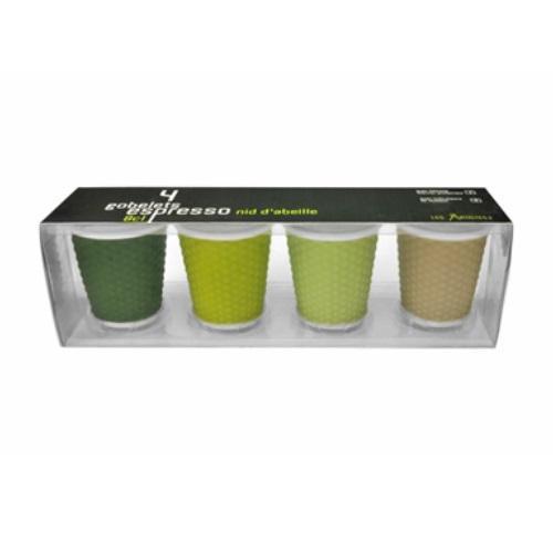 סט 4 כוס אספרסו ירוק A-0793