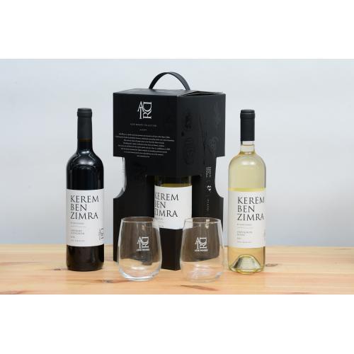 מארז יינות וכוסות לחג