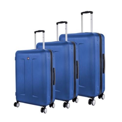 סט 3 מזוודות קשיחות קלות משקל SWISS